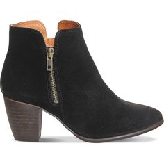 Now $73 - Shop this and similar Office ankle booties - Office suede ankle boots. Slip on. Double zip, mid-stacked heel, contrast lining. Suede upper, leather li...