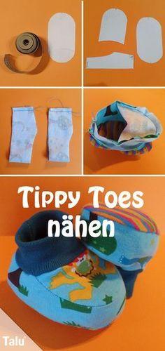 Kostenlose Anleitung - Tippy Toes / Babyschuhe nähen - Talu.de
