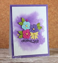 Card by PS GDT Amy Kolling using PS Flowers 2 dies, Best Buds, Bows dies