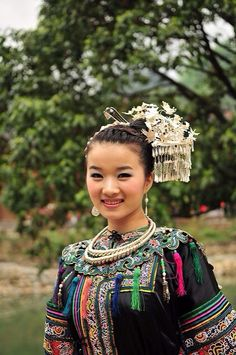 Beautilful Miao Girl in Xijiang Miao Village