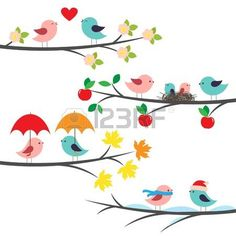 Illustration of Birds under umbrella. Romantic card vector art, clipart and stock vectors. Sheep Vector, Owl Vector, Royalty Free Songs, Free Vector Images, Vector Free, Train Vector, Valentines Day Clipart, Romantic Cards, Spring Birds