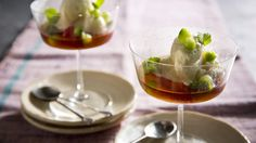 Cucumber and Pimm's sorbet.