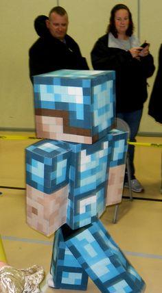 Steve from Minecraft Minecraft Halloween Costume, Minecraft Costumes, Halloween 2017, Halloween Costumes, Steve Costume, Minecraft Party Decorations, Minecraft Birthday Cake, Book Week Costume, Minecraft Creations