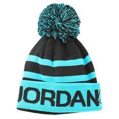 Jordan Go Two Three Pom Beanie - Basketball - Accessories - Black/Gym Red/White
