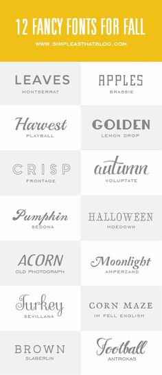 14 beautiful fonts perfect for Fall!