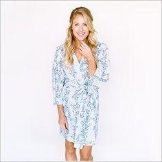 Kimono Style Robe. Knee Length. Heatherington Eden