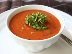 Gazpacho Recipe - Cold Tomato Cucumber Pepper Soup - YouTube