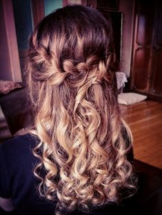 #braid #curly hairstyle