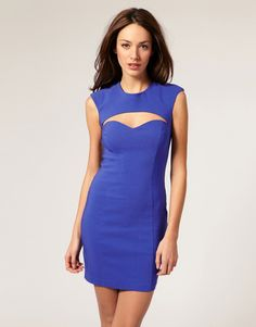 ASOS Cut Out Dress with Sweetheart Neck
