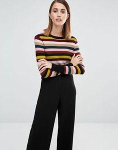 Whistles – Langärmliger Pullover mit mehrfarbigen Streifen