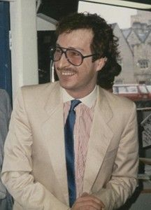 80s mens fashion: Steve Wright in 1985 - photograph copyright of www.retrowow.co.uk