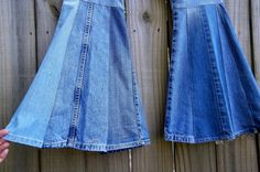 DENIM BELL BODEMS Womens Hippie Jeans door CaliforniaPatchwork