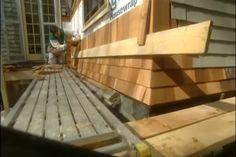 Best Installing Wood Shingle Siding Shows Using A Jig To 400 x 300