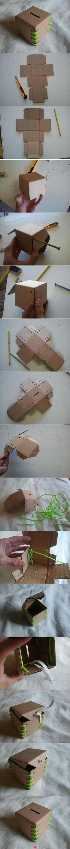 ¡Qué idea más original para hacer una hucha de cartón! Perfecta para ahorrar dinero: https://www.cajadecarton.es/cajas-para-envios?utm_source=Pinterest&utm_medium=social&utm_campaign=20160616-cajas_envios