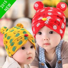 e8a9a8fcadb Aliexpress.com   Buy Infant Beanie Hat Lovely 2015 New Autumn Baby Bear  Pattern Cap New Collection Kids Two Bear Ears Design For Baby Boys Girls  from ...