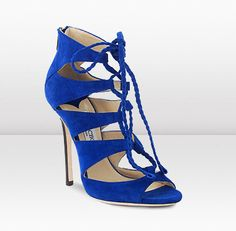 Jimmy Choo...wish they had these years ago when I could wear them!! Couldn't afford them...$995.00 a pair!