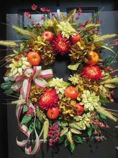 Fall Front Door Wreaths Fall Wreaths for Door by hollyhillwreaths