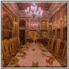 A dining room of Isfahan Gardens (Iranian restaurant) in Souq Waqif (old market). Doha, Qatar