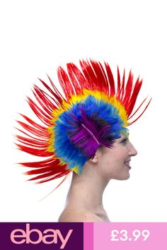 Purple Novelty Tie Die Mohawk One Size Fits Most Costume Accessory