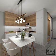 Small House Interior Design, Condo Design, House Design, Kitchen Room Design, Kitchen Layout, Small Modern Kitchens, Kitchen Units, Small Apartments, Interior Photography