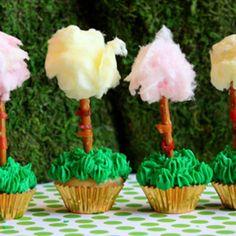 Dr. Seuss tree cupcakes