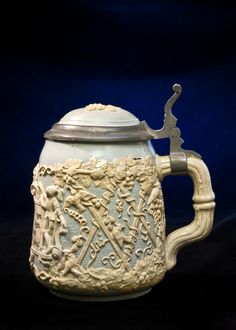 Rare Cameo Stein  Mettlach - Villeroy and Boch