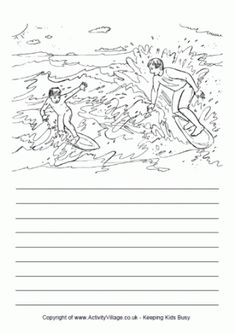 Surfing Story Paper