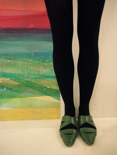 Screenprint on paper by Cantoro & shoes by Marni on Patricia. / Fashion Monday by Art Interiors / Toronto Art Gallery