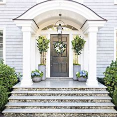 motherofsoutherncharm: Beautiful Entrance Source: Pottery...   Georgiana Design   Bloglovin'