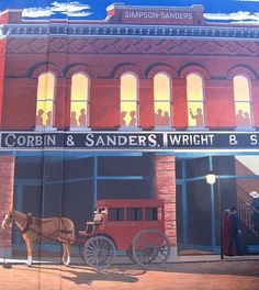 Several town murals - U.S. 50 / Main Street through the center of the small city of Delta, Colorado
