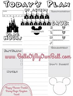 Belle Of My Own Ball: Happy Planner FREEBIE - Disney Planning Insert - Magic Kingdom