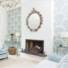 Ways with wallpaper: Farrow and Ball Lotus