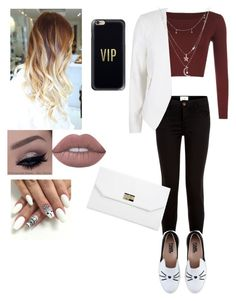 """""""#classy """" by moniybrooks on Polyvore featuring WearAll, New Look, Karl Lagerfeld, River Island, Charlotte Russe, Lime Crime, Casetify and Boohoo"""