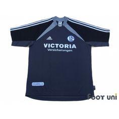 dee7426f876 Photo1: Schalke04 2001-2002 Away Shirt w/tags adidas - Football Shirts,