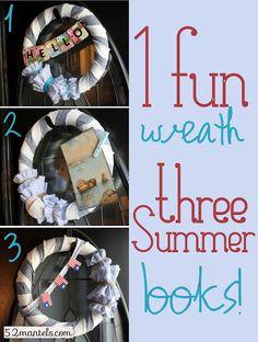 Dads nursing home door- One Summer Wreath, 3 Different Looks!   Dawn here ya go