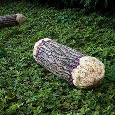 Short Cotton Wood Tree Log Bolster Pillow by chicsindesigndotcom, $56.00