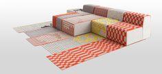 GAN-RUGS - rugs orange - Patricia Urquiola - [ actually crochet on fabric... ]