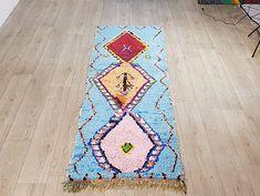 106/35 Moroccan Berber Vintage Boucherouite Rug