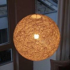 If you have a tired table lamp, a lackluster lantern, or a pooped-out pendant, take inspiration (and instruction) from these fresh and easy DIY ideas—and let there be light! Diy Light Shade, Light Shades, Origami Lamp, Ball Lights, Lamp Shades, Diy Art, Easy Diy, Diy Lampshade, Wool Yarn