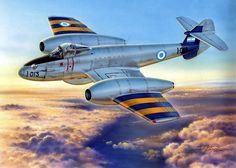 Gloster Meteor Mk IV Fuerza Aérea Argentina (Stan Hajek)