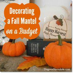 Decorate a Fall Mantel on a Budget! Dagmar's Home. DagmarBleasdale.com #eBay #falldecor #DIY #mantel #eNayguides #spon #pumpkins #Thanksgiving