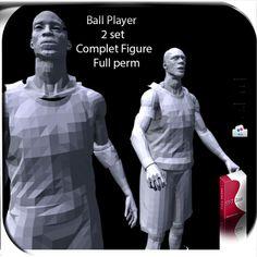 Ball Player Basketball 2 set Figure Full perm