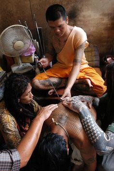Tattoo Festival at Wat Bang Phra,   Buddhist temple.