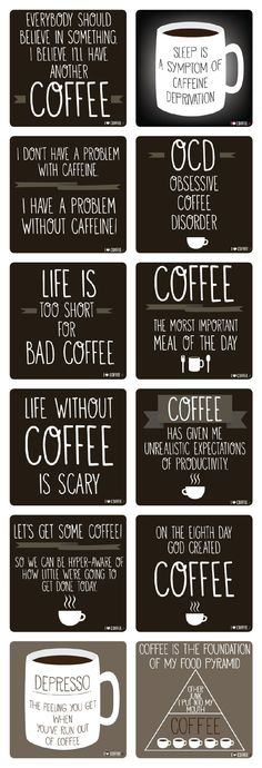 Coffee quotes from I Love Coffee #coffee_sayings #coffee_quotes: