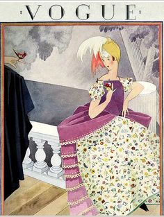 Vogue cover --- April 1, 1924 by George Wolfe Plank.