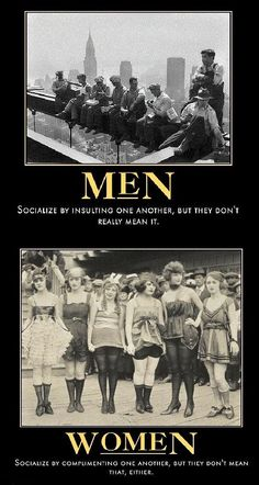Men vs women socializing
