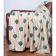 @Overstock.com - This 50x60 Perla peacock feather printed microplush throw is super soft. It will add a warm touch to your home decor.http://www.overstock.com/Bedding-Bath/50x60-Perla-Peacock-Feather-Printed-Throw/6689441/product.html?CID=214117 $32.99