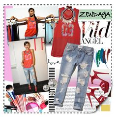 """""""Get Zendaya's Look"""" by chocolate-addicted-angel ❤ liked on Polyvore"""