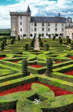 Chateau Villandry in the Loire Valley, France. I was amazed at the level of design and detail in this garden - a most to see if you are at all interested in garden design or just gardening in general - wow what a place!!