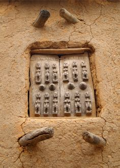 Africa   Carved wooden granary door. Mali   ©bindubaba, via flickr